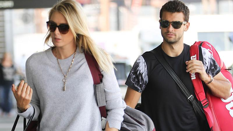 Maria Sharapova and Grigor Dimitrov, pictured here in 2015.