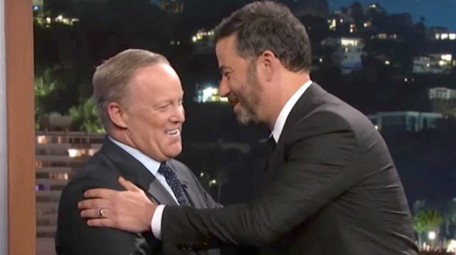 Sean Spicer got a lesson on what a fact is during an interview with Jimmy Kimmel on Wednesday night.