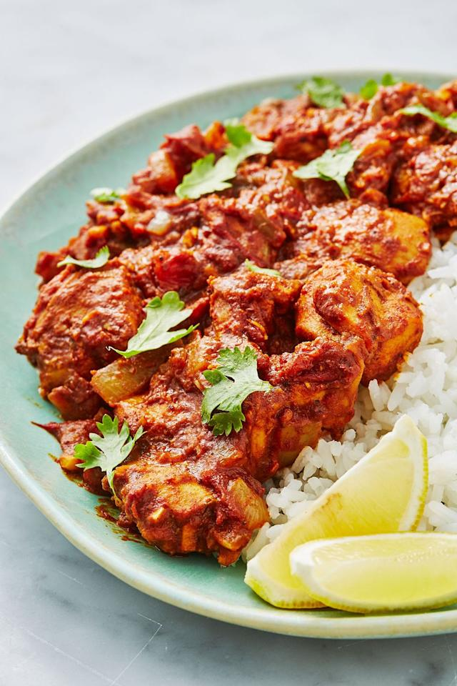 "<p>We love this easy, healthy chicken bhuna recipe, a sure-fire dinner table win - the ultimate crowd pleaser.<br></p><p>Get the <a href=""https://www.delish.com/uk/cooking/recipes/a28867202/chicken-bhuna/"" target=""_blank"">Chicken Bhuna</a> recipe.  </p>"