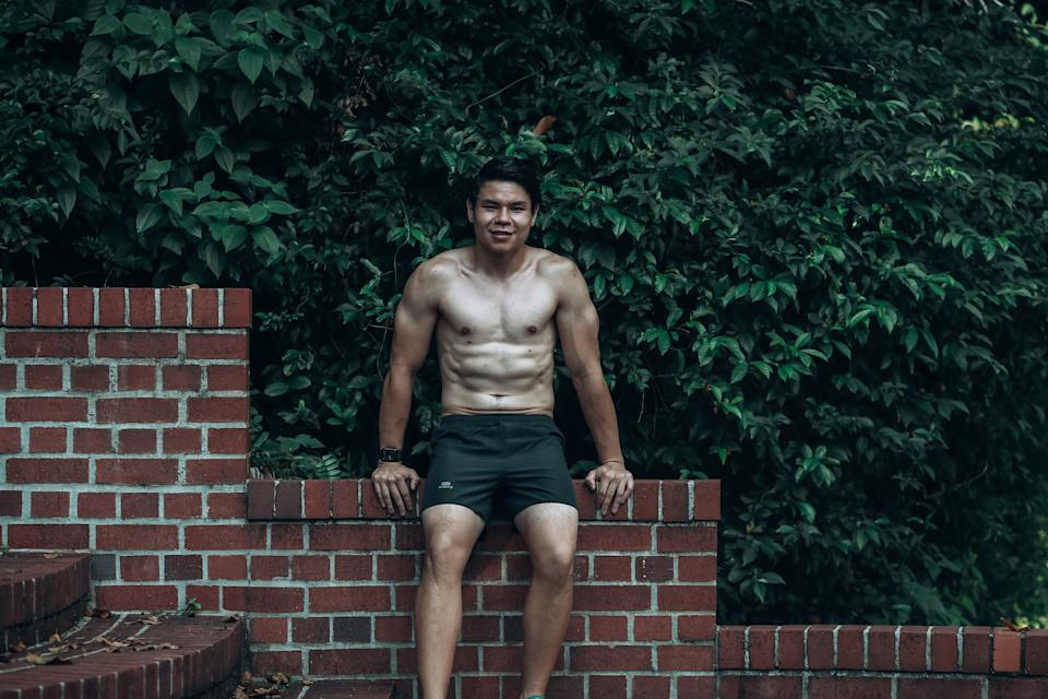 Marcus' current fitness goals to keep up with daily exercises and to push his cardio limits through longer and faster runs.