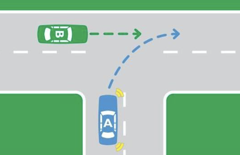 A t-intersection is pictured.