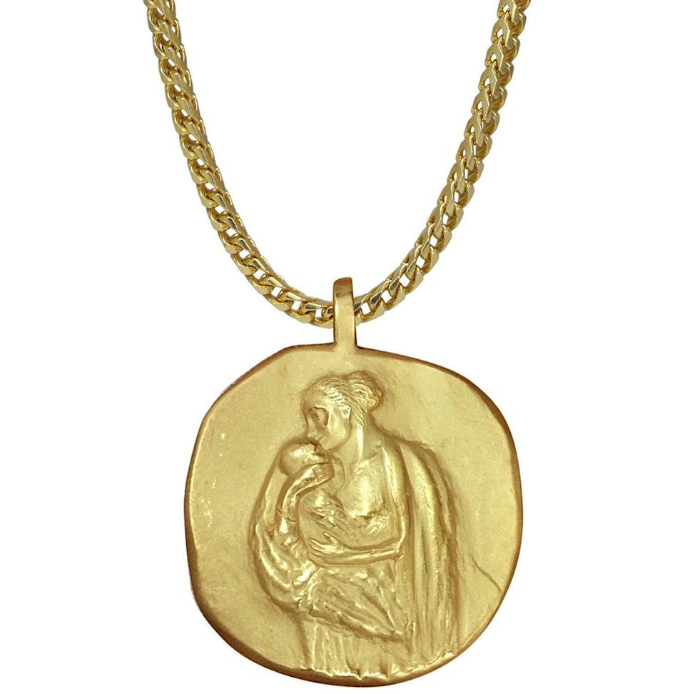 "<p>18k yellow gold, 25″ chain, weight: 86.4g.<br>(Photo: <a href=""https://yeezysupply.com/products/s4006"" rel=""nofollow noopener"" target=""_blank"" data-ylk=""slk:Yeezy Supply"" class=""link rapid-noclick-resp"">Yeezy Supply</a>) </p>"