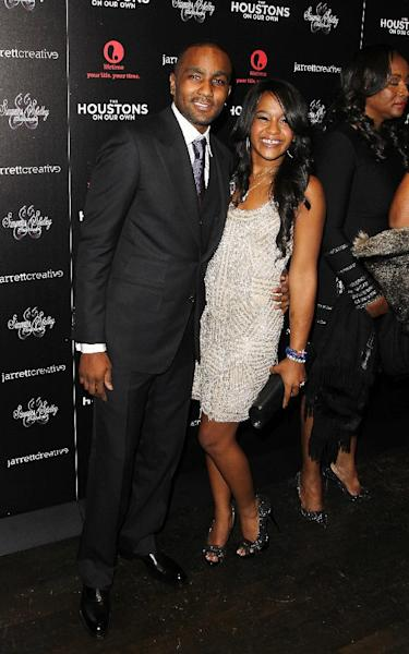 """File- This Oct. 12, 2012 file photo shows Nick Gordon and Bobbi Kristina Brown attending the premiere party for """"The Houstons On Our Own"""" at the Tribeca Grand hotel in New York. A rep for the family confirmed Friday Jan. 10, 2014, that the 20-year-old Brown married Gordon. But the rep did not know where or when the marriage took place. ( Photo by Donald Traill/Invision/AP,File)"""