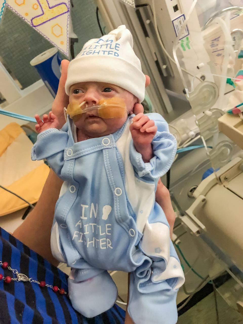 Kaiden has defied the odds to survive [Photo: SWNS]