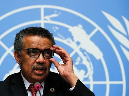 FILE PHOTO: Director-General of the World Health Organization (WHO) Tedros Adhanom Ghebreyesus attends a news conference at the United Nations in Geneva, Switzerland, February 7, 2018.  REUTERS/Denis Balibouse