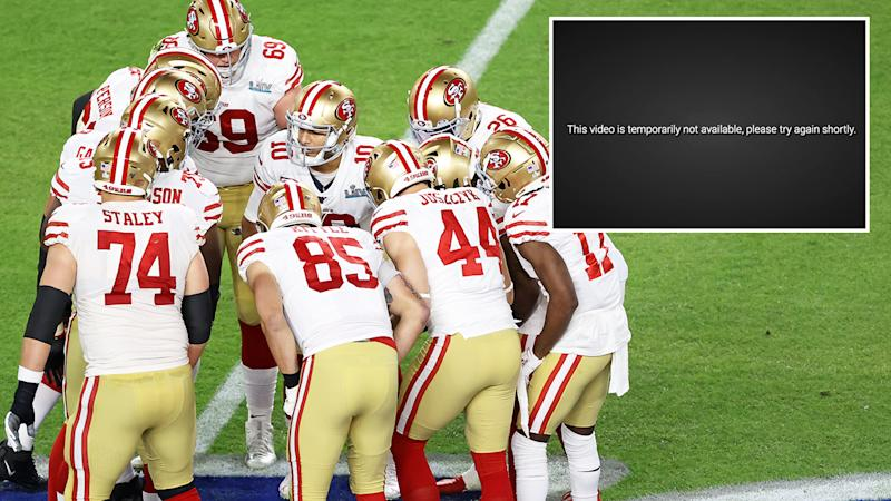 The San Francisco 49ers, pictured here during the Super Bowl.