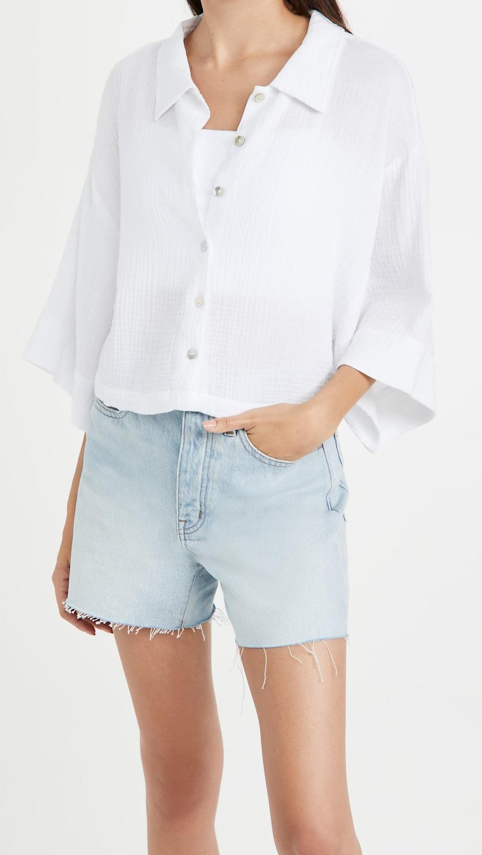 <p>Hot weather is no match for this <span>Z Supply Canal Gauze Top</span> ($64). You can wear it layers or on its own, either way, it'll look chic.</p>