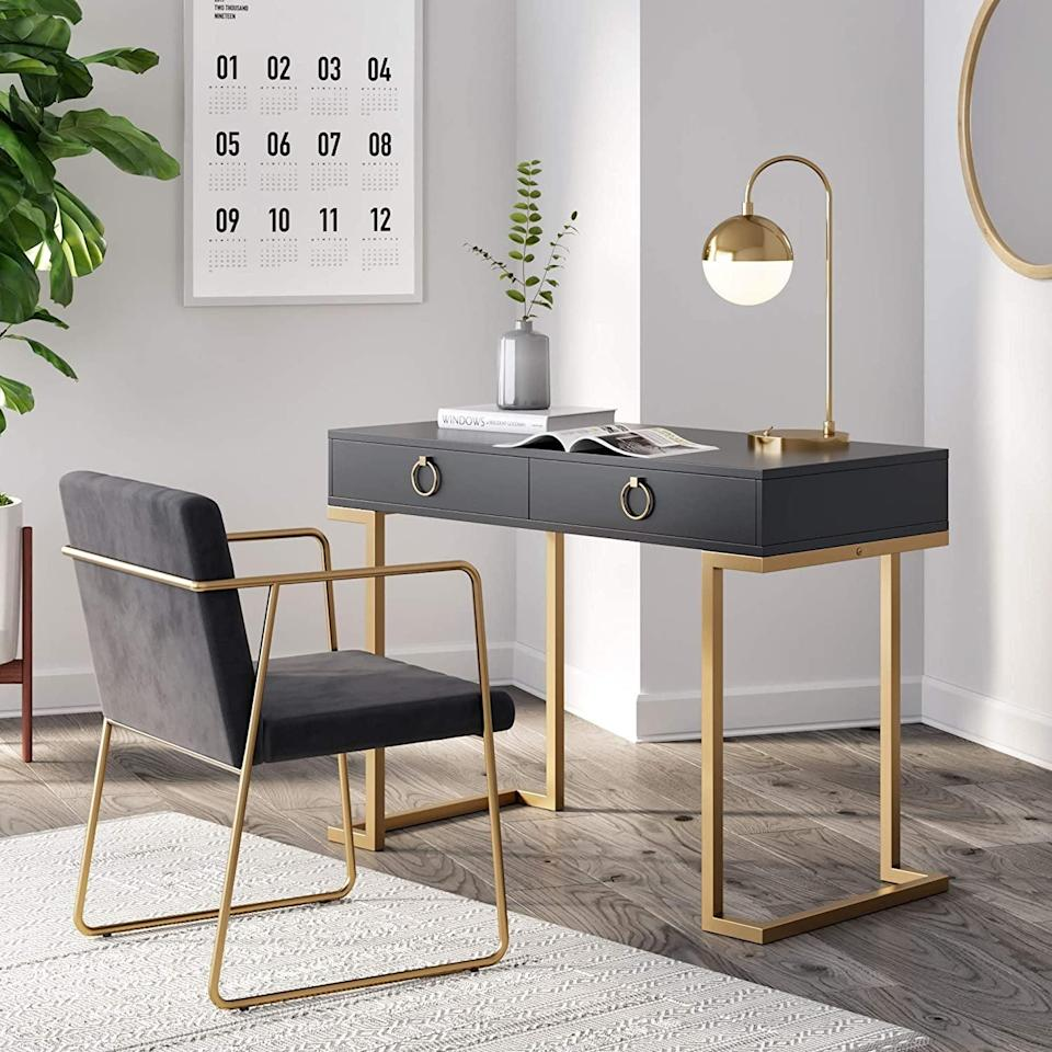 <p>This <span>Nathan James Leighton Computer Desk</span> ($242) would also make for a great vanity.</p>