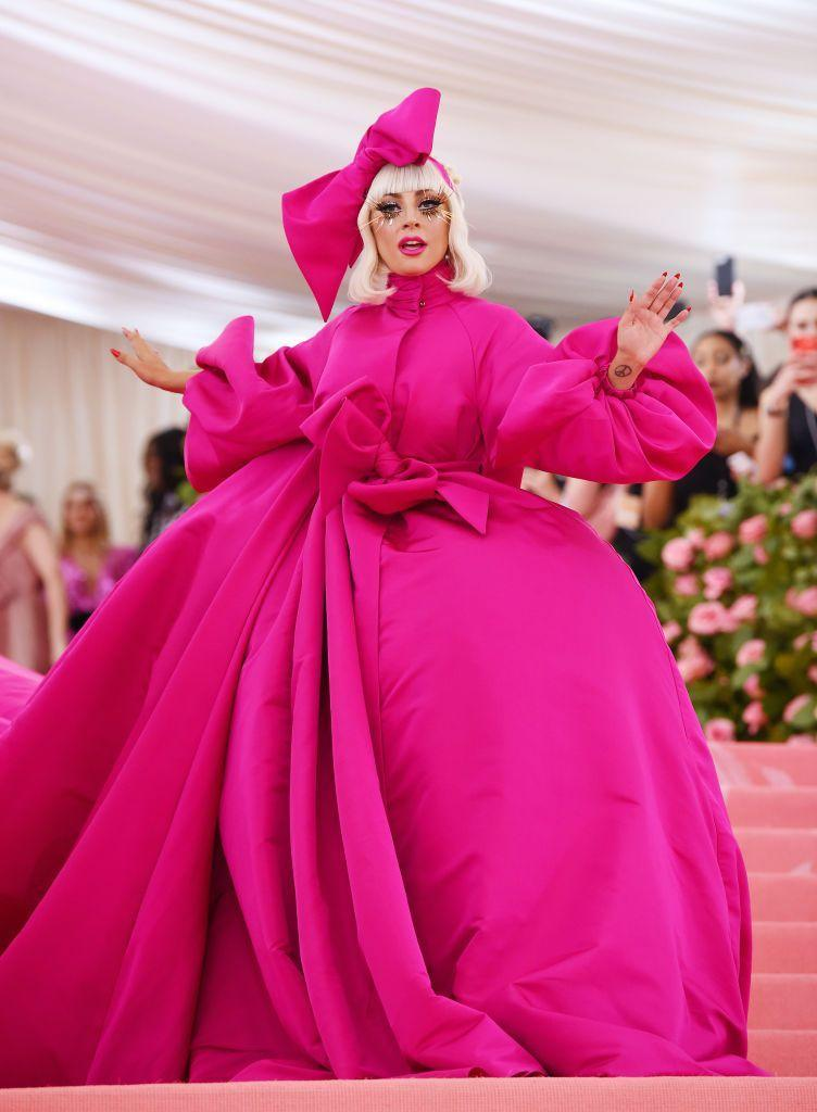"""<p>To host the Met Gala Gaga wore no less than <a href=""""https://www.elle.com/uk/fashion/celebrity-style/g27305413/met-gala-2019-dresses/?slide=1"""" rel=""""nofollow noopener"""" target=""""_blank"""" data-ylk=""""slk:four outfits by Brandon Maxwell"""" class=""""link rapid-noclick-resp"""">four outfits by Brandon Maxwell</a>.</p>"""