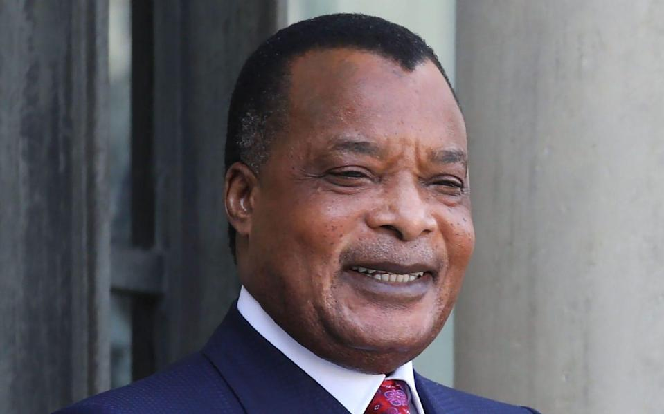 Congo's President Denis Sassou Nguesso arrives at the Elysee Palace in Paris to meet with his French counterpart on september 3 - AFP