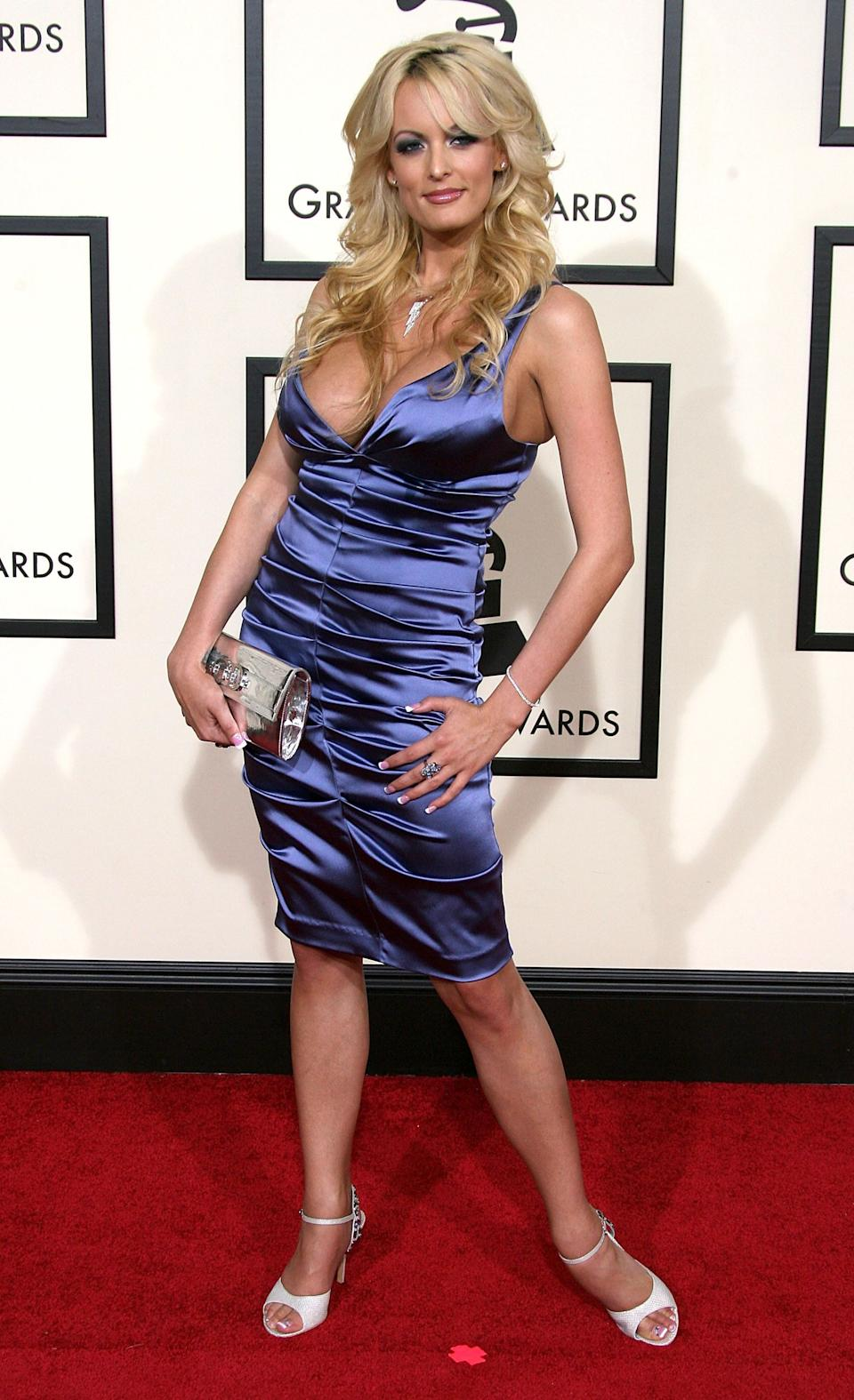 At the 50th annual Grammy Awards at the Staples Center in Los Angeles.