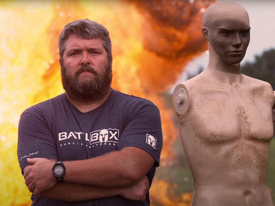 """""""The BattlBox crew tests out a variety of products designed to help people survive dangerous situations, including fires, explosions and intruders."""""""