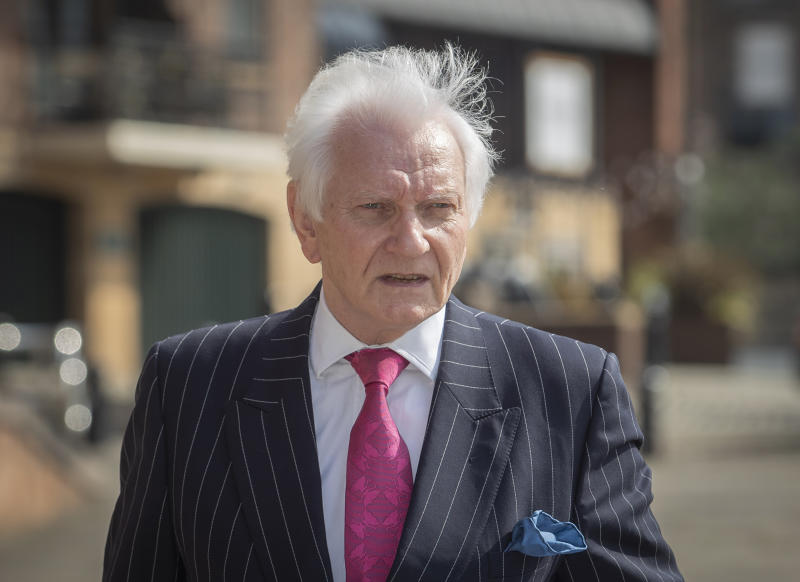 Former Tory MP Harvey Proctor, arrives at Newcastle Crown Court ahead of the sentencing of Carl Beech, the Westminster VIP paedophile accuser who was convicted on Monday of 12 counts of perverting the course of justice and one of fraud. (Photo by Danny Lawson/PA Images via Getty Images)