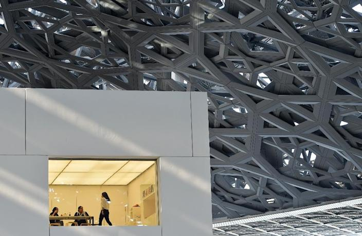 Designed by French architect Jean Nouvel, the Louvre Abu Dhabi opened in November 2017 (AFP Photo/GIUSEPPE CACACE)