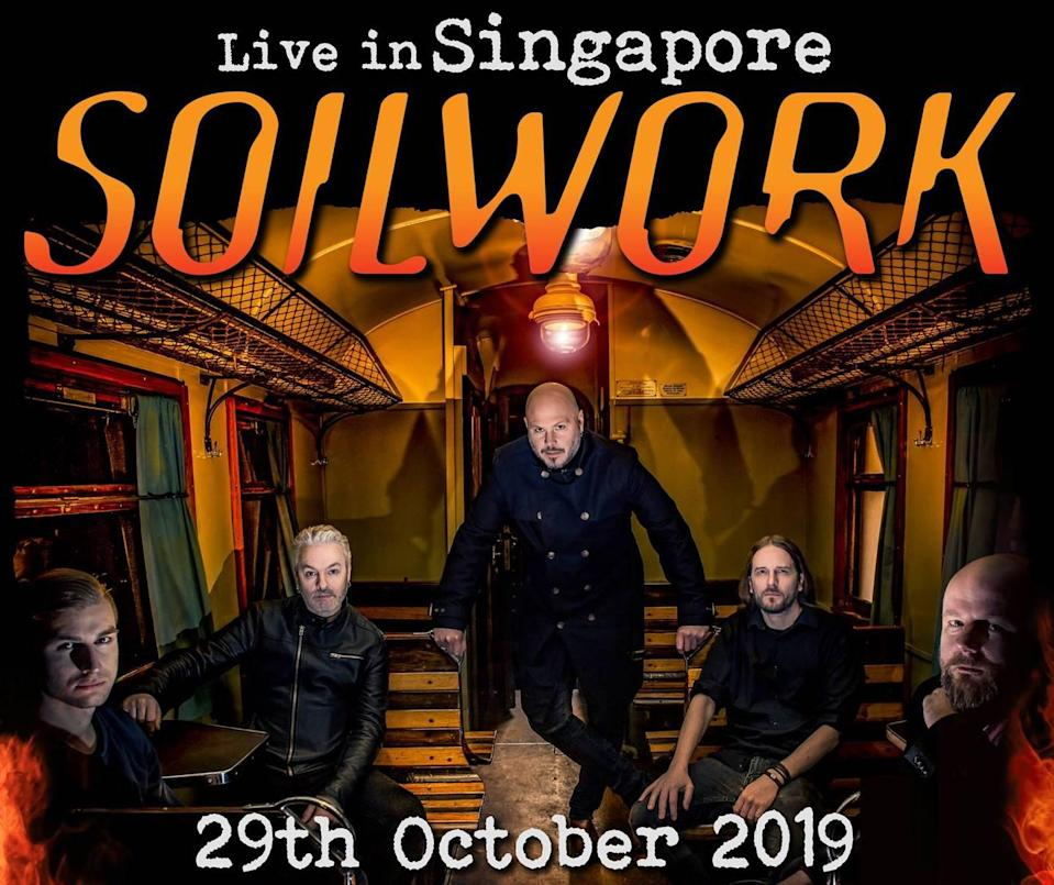 Swedish death metal band Soilwork are still scheduled to perform in Singapore on 29 October, said the event organiser, despite a petition calling for its ban. (PHOTO: Street Noise SG/Facebook)