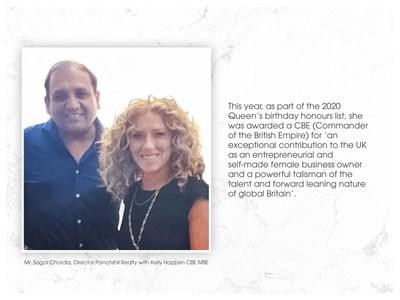 Mr Sagar Chordia, Director Panchshil Reality with Kelly Hoppen CBE MBE