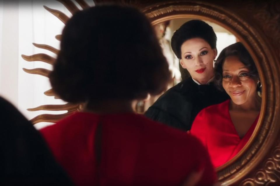 Fatma Mohamed and Marianne Jean-Baptiste in Peter Strickland's bonkers horror movie 'In Fabric' (Photo: A24 / courtesy Everett Collection)