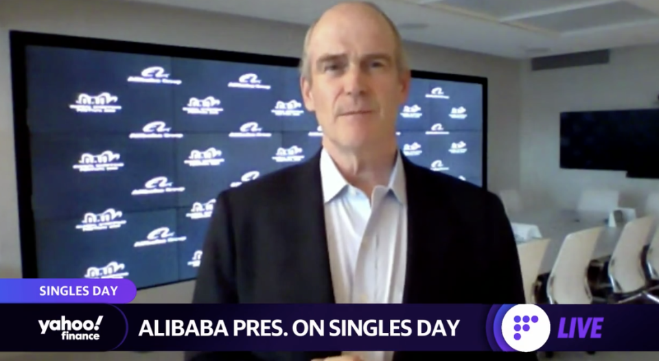 Alibaba Group President Michael Evans appears on Wednesday on Yahoo Finance Live.