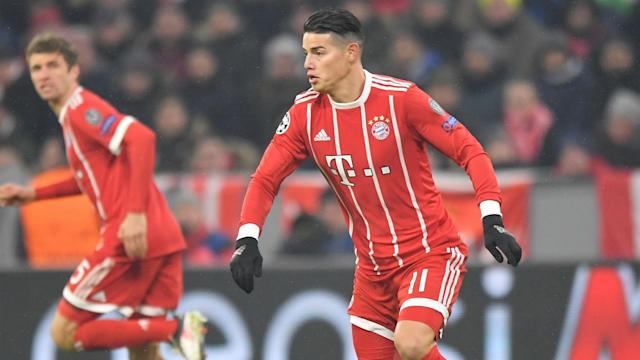 James Rodriguez suffered a calf strain against Besiktas on Tuesday, but Bayern Munich do not expect him to be out for long.