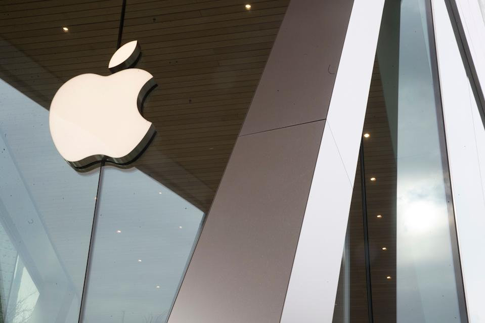 The Apple logo is displayed at the Apple store in the Brooklyn borough of New York, Thursday, Jan. 3, 2019. Apple's shock warning that its Chinese sales are weakening ratcheted up concerns about the world's second largest economy and weighed heavily on global stock markets as well as the dollar on Thursday. (AP Photo/Mary Altaffer)