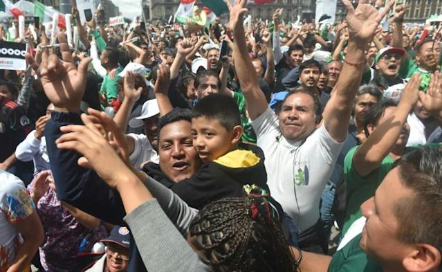 The streets of Mexico City were full of jubilant football fans