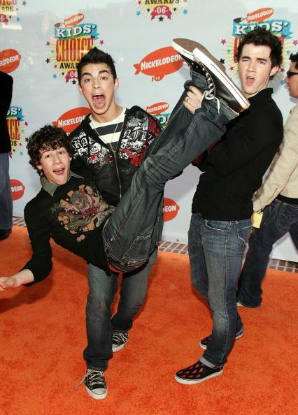"""<p><strong>Paparazzi at the Kid's Choice Awards in 2006:</strong> """"Goof off for the cameras, guys!""""<br /><strong>JoBros:</strong> """"Okay!""""</p>"""