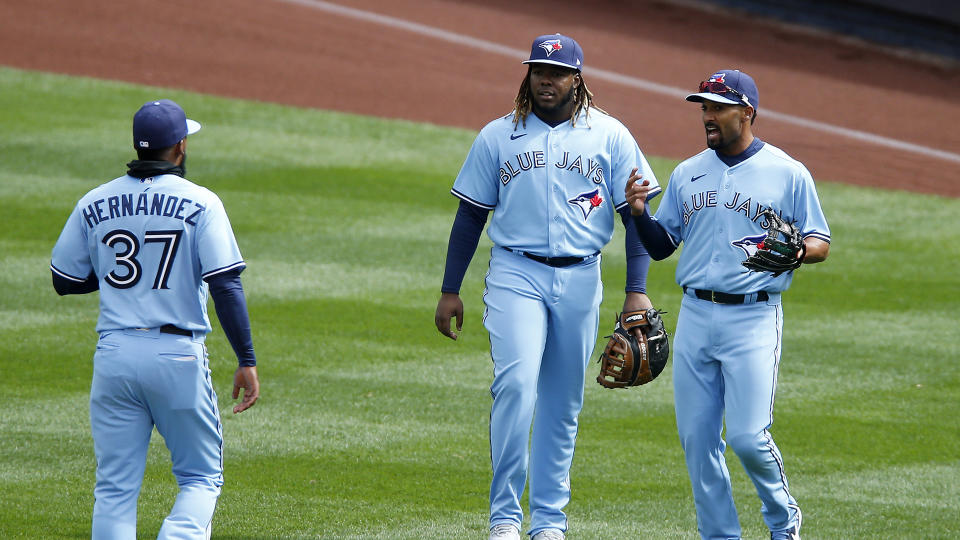 The Toronto Blue Jays will have three players starting in the All-Star Game. (Photo by Jim McIsaac/Getty Images)