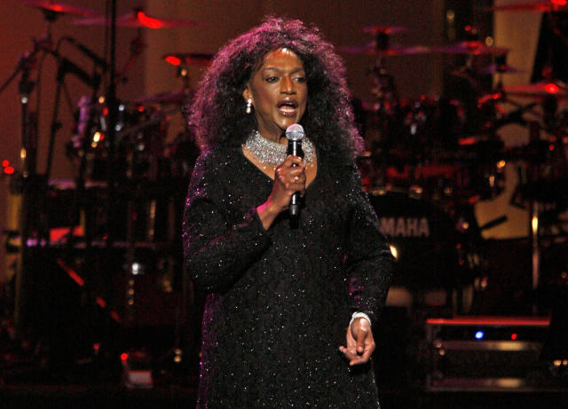 FILE - This Sept. 18, 2007 file photo shows soprano Jessye Norman performing during The Dream Concert at Radio City Music Hall in New York. Norman died, Monday, Sept. 30, 2019, at Mount Sinai St. Luke's Hospital in New York. She was 74. (AP Photo/Jason DeCrow, File)