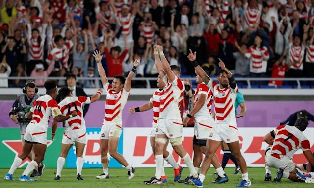 """<span class=""""element-image__caption"""">The success of hosts Japan, who reached the knockout stages for the first time, played a huge part in the success of the tournament.</span> <span class=""""element-image__credit"""">Photograph: Matthew Childs/Reuters</span>"""