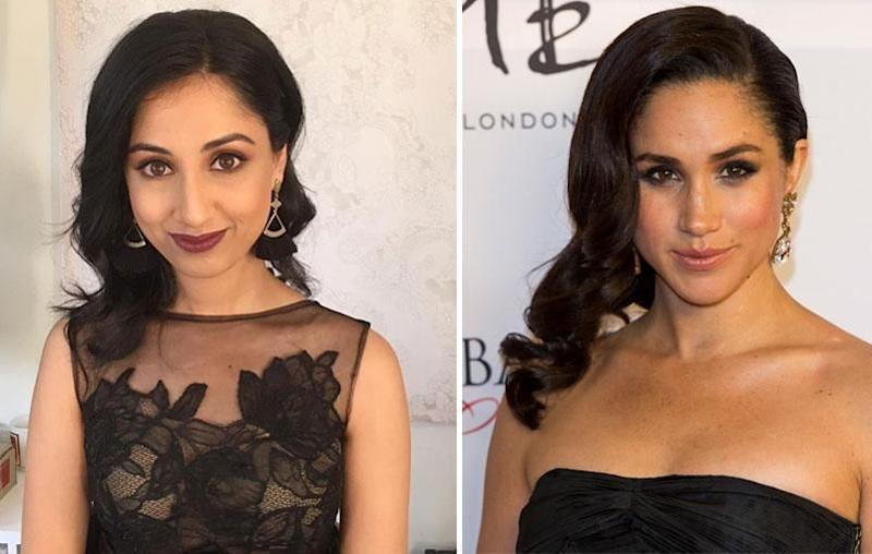 Hair and makeup artist Helani Sarath-Kumara, who is the founder of Gather & Stitch Beauty in Sydney, says the key to achieving Meghan's signature look is by striking the right balance when highlighting facial features for impact. Source: Be/Getty