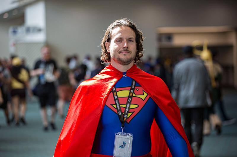 A cosplayer dressed as Superman attends Comic-Con International on Thursday in San Diego.