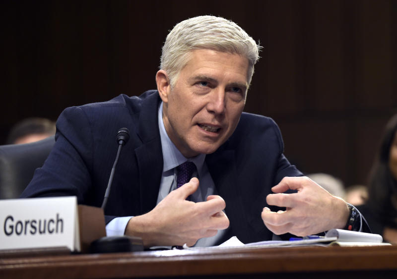 Mitch McConnell says Democrats' planned filibuster of Neil Gorsuch is