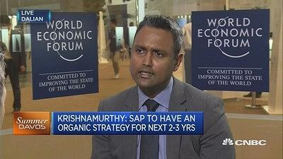 Deepak Krishnamurthy of SAP tells CNBC that blockchain technology complements its existing supply chain in the enterprise software sector.