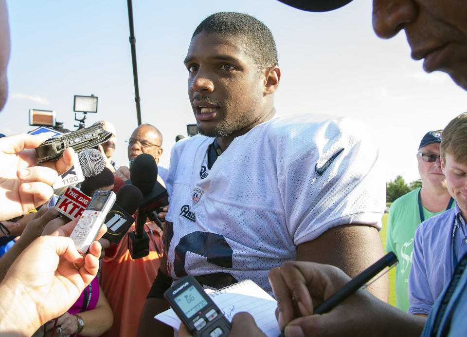 Michael Sam was the first openly gay NFL draft pick, but never played a snap in the league. (Scott Rovak-USA TODAY Sports)
