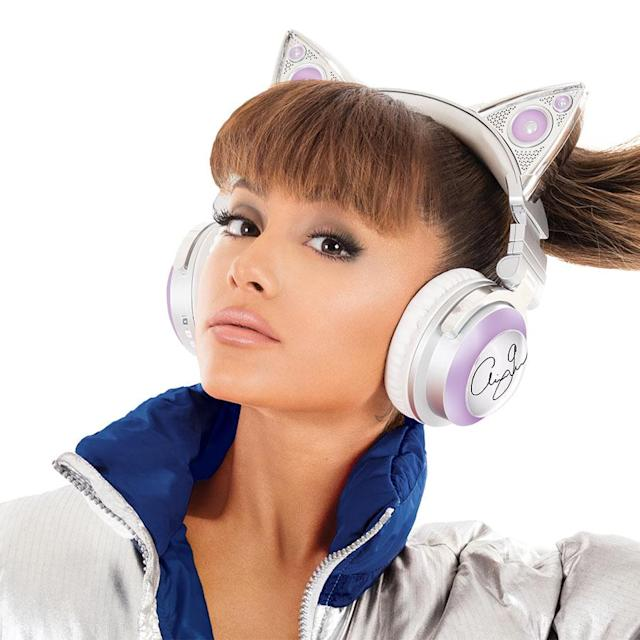 "<p>Maybe you love Ariana Grande, or maybe you don't but find yourself irresistibly drawn to her anyhow because, after all, SHE IS A CAT. You, too, can take on her feline appearance by picking up a set of Grande-branded 'phones that cover your lobes while placing glowing cat ears atop your head. The ears illuminate in eight different festive colors, and the ""cans"" have speakers that face outward as well as inward, so you can listen privately or turn on the exteriors and really annoy everyone on the subway. (<span>Buy here</span> for $149.99) (Credit: Brookstone.com) </p>"