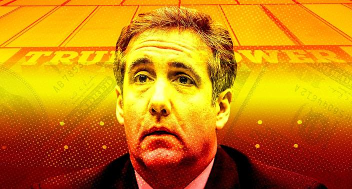 Michael Cohen, the former personal attorney of U.S. President Donald Trump, sits at the witness table waiting to testify before a House Committee on Oversight and Reform hearing on Capitol Hill in Washington,  Feb. 27, 2019. (Yahoo News photo Illustration; photos: AP, Getty)