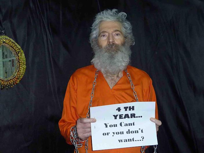 This undated handout photo provided by the family of Robert Levinson, shows retired-FBI agent Robert Levinson who went missing on the Iranian island of Kish in March 2007 and Levinson's family received these photographs of him in April 2011. In secret face-to-face talks with Iran, aimed at a deal to slow Iran's nuclear program, the U.S. team in a March 2013 meeting also raised concerns about Syria, Tehran's threats to close the Strait of Hormuz and the status of Levinson. (AP Photo/Levinson Family)