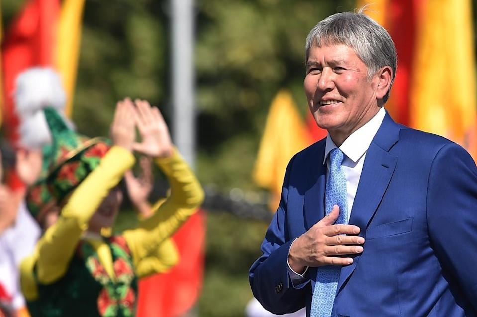 """Outgoing Kyrgyz President Almazbek Atambayev has condemned the reburial of a 1,500-year-old mummy, blaming """"pseudo-Muslims"""" who """"believe every clairvoyant"""" (AFP Photo/VYACHESLAV OSELEDKO)"""