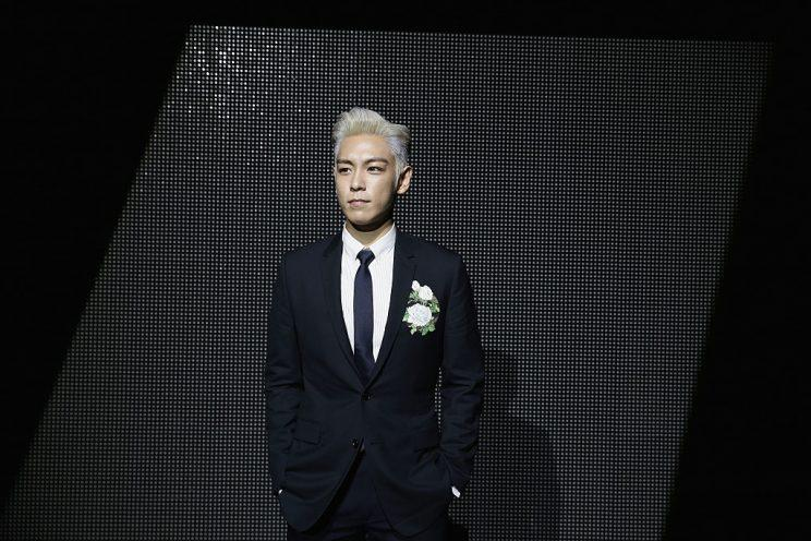 Dior Alternative Views : Paris Fashion Week - Menswear Fall/Winter 2016/2017 PARIS, FRANCE - JANUARY 23: T.O.P attends the Dior Menswear Fall/Winter 2016/2017 fashion show at Tennis Club de Paris on January 23, 2016 in Paris, France. (Photo by Vittorio Zunino Celotto/Getty Images)