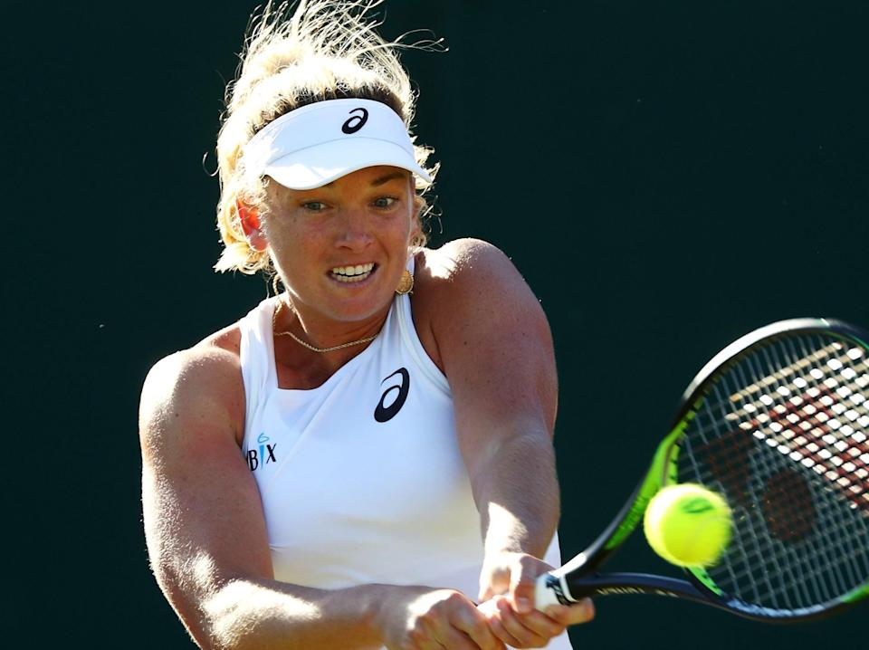 American CoCo Vandeweghe in action at Wimbledon in 2018: 'I had a lot of therapy, did a lot of sweating on the physio table and went through a lot of pain' (Getty)