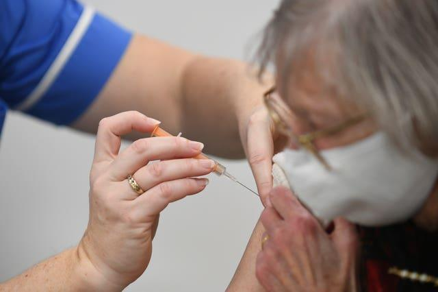 An injection on a 93-year-old
