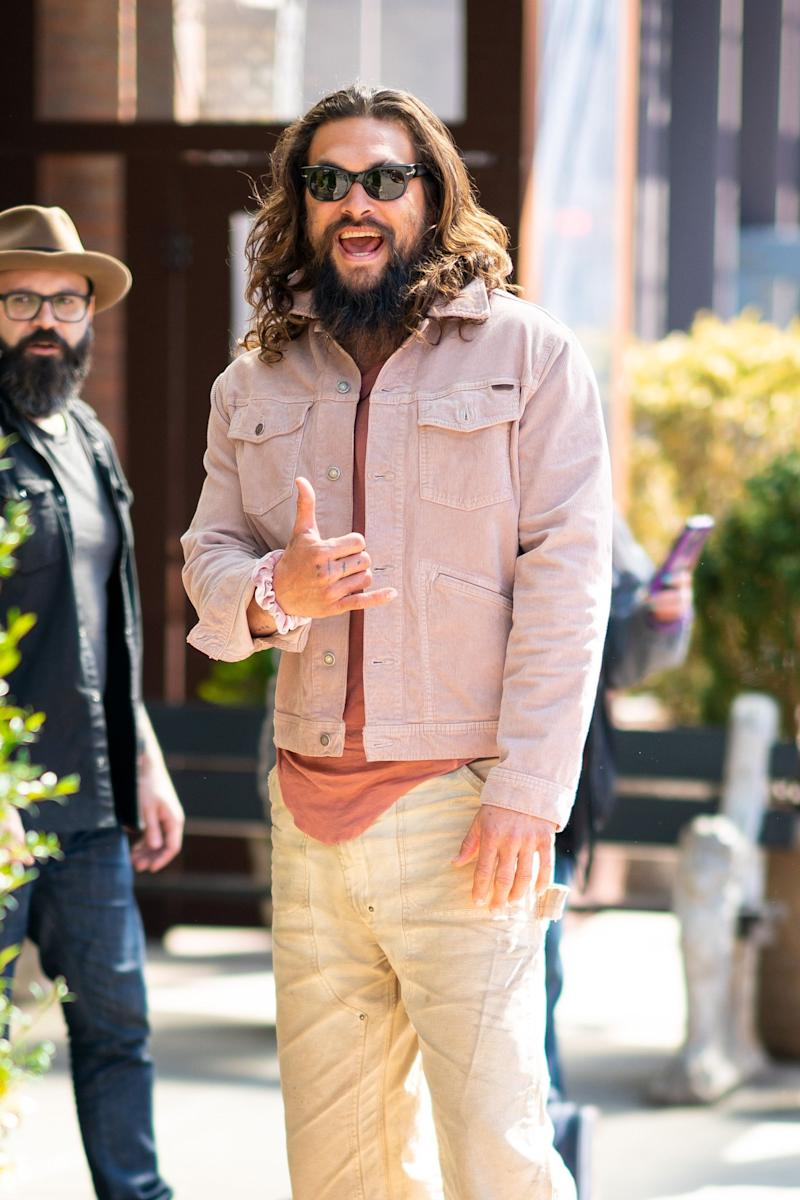 Jason Momoa out and about in NYC earlier this month. (Photo: Gotham/GC Images)