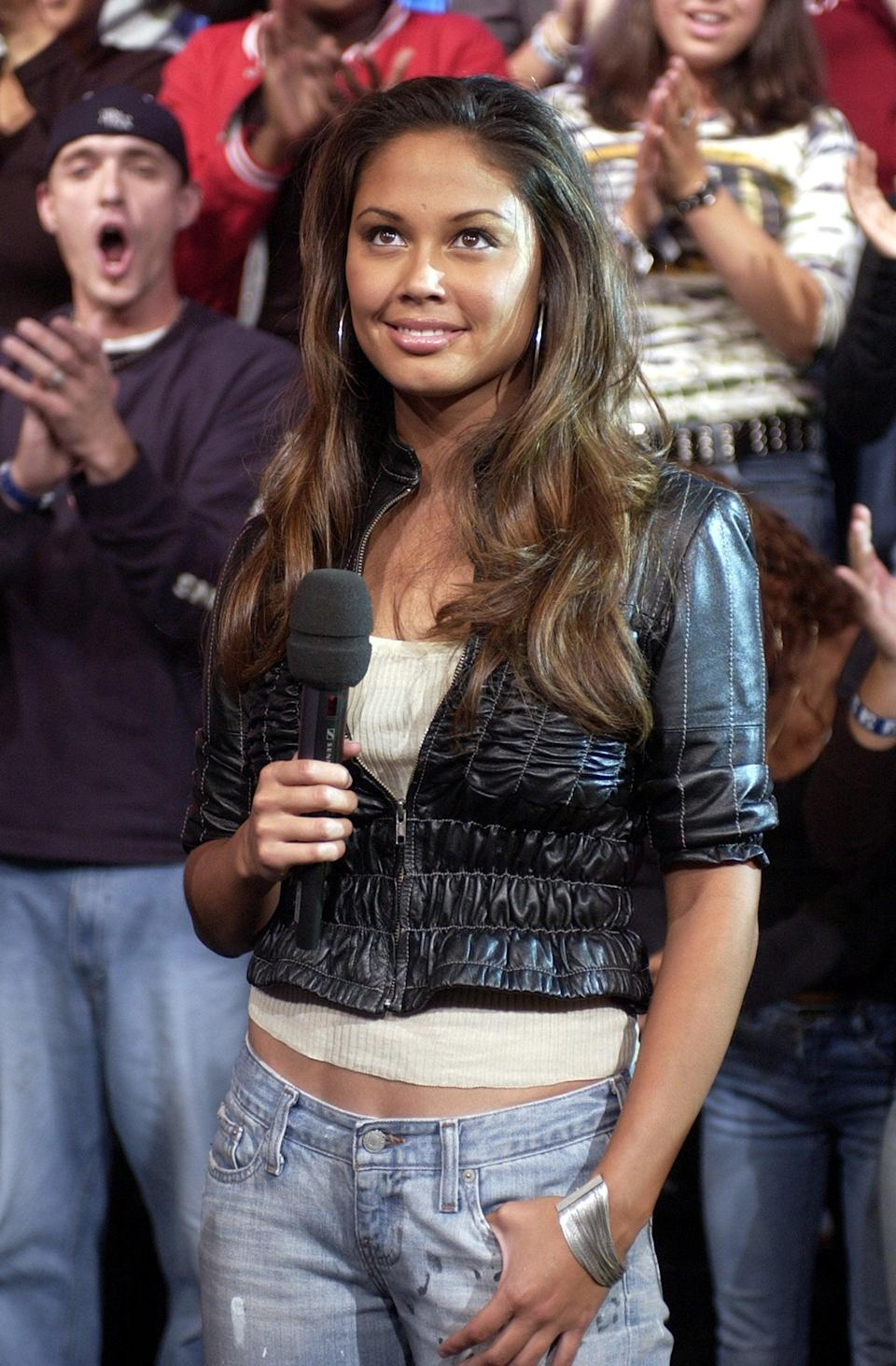 <p>Vanessa Lachey (then Minnillo) was one of the new MTV VJs for <b>TRL</b> in 2003.</p>