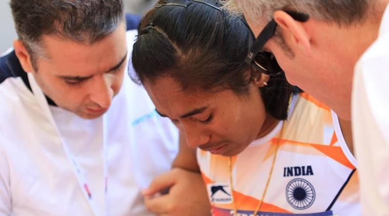 Hima Das at Asian Athletics Championship in Doha