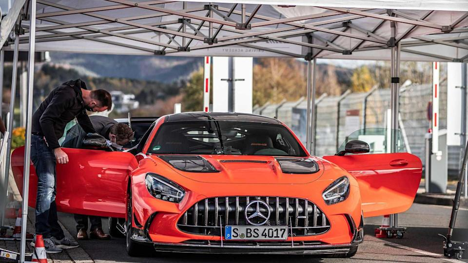 Mercedes-AMG GT Black Series In Pits For Nurburgring Record
