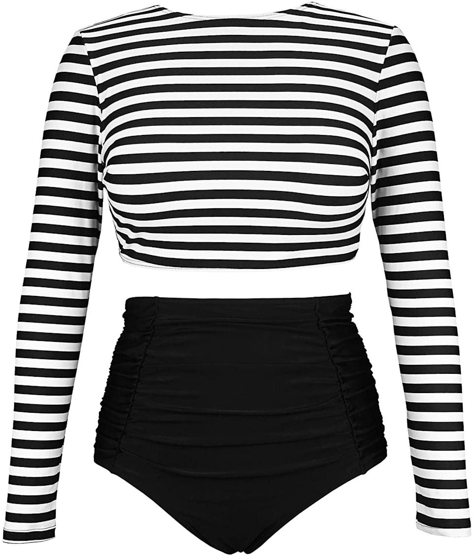 <p>This <span>Cocoship High-Waisted Set</span> ($31) will provide ample coverage, and you'll feel comfortable while wearing it.</p>
