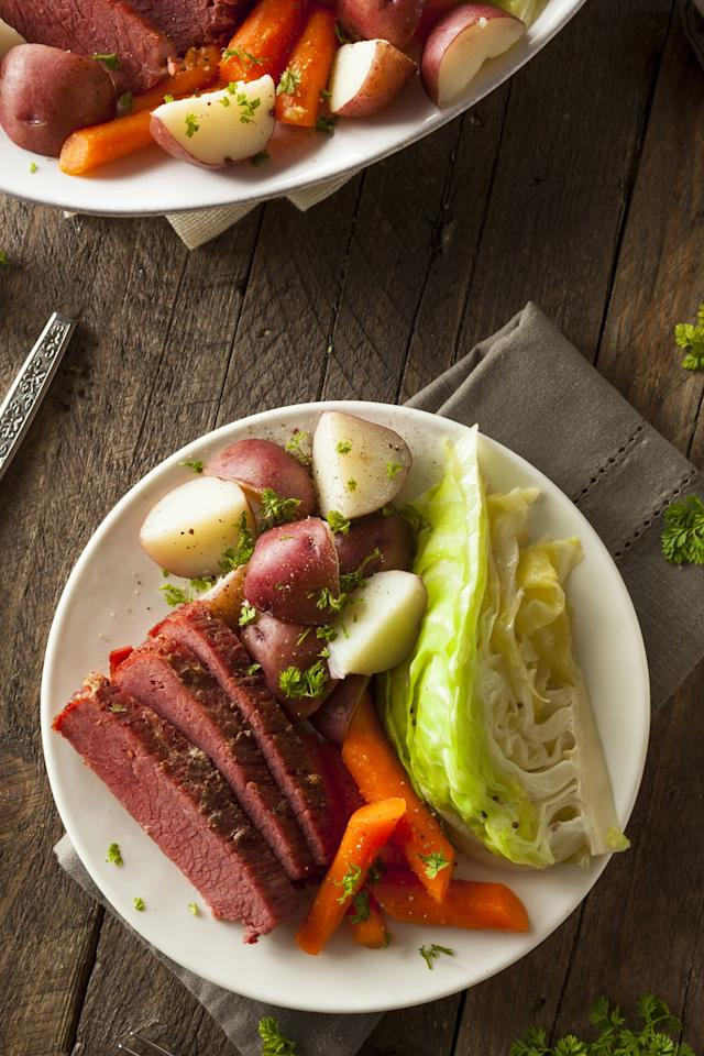<p>You haven't celebrated like the Irish if you don't devour a plate that looks like this. A classic dish of Ireland, corned beef and cabbage is hearty and delicious.</p>