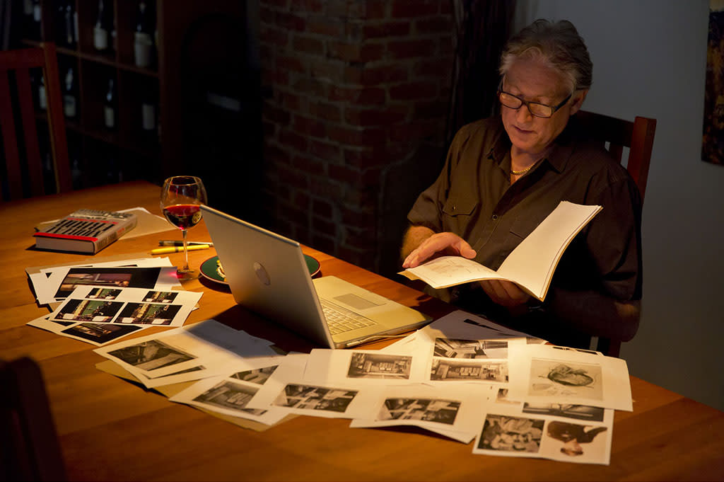 Colin McLaren researching the assassination records.