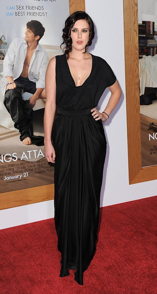 "<a href=""http://movies.yahoo.com/movie/contributor/1800260809"">Rumer Willis</a> attends the Los Angeles premiere of <a href=""http://movies.yahoo.com/movie/1810159162/info"">No Strings Attached</a> on January 11, 2011."