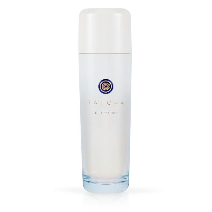 """<p><strong>Tatcha</strong></p><p>tatcha.com</p><p><strong>$105.00</strong></p><p><a href=""""https://go.redirectingat.com?id=74968X1596630&url=https%3A%2F%2Fwww.tatcha.com%2Fproduct%2Fessence-skincare-boosting-treatment%2FCE01110T.html%3Fcgid%3Dbest_sellers&sref=https%3A%2F%2Fwww.townandcountrymag.com%2Fstyle%2Fbeauty-products%2Fg37621911%2Ftatcha-sale-september-2021%2F"""" rel=""""nofollow noopener"""" target=""""_blank"""" data-ylk=""""slk:Shop Now"""" class=""""link rapid-noclick-resp"""">Shop Now</a></p><p>If you want to give your face a splash of youthifying liquid, pat this on after you wash for face and watch your skin practically life in front of your eyes.</p>"""